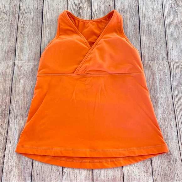 Lululemon Deep V Tank Top Orange
